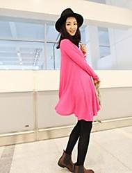 mode robe irrégulière de couleur pure confortable maternité
