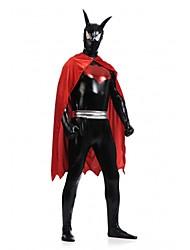 batman allá superhéroe negro&lycra spandex rojo traje Zentai unisex