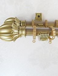Aluminum Alloy Spray Gold Rose Back To The Word Rome Smooth Rod Curtain Double Rod 0530202-03