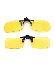 LEBOSH™Myopic Sunglass Clip Super Light Polarized Lens Yellow Night Market