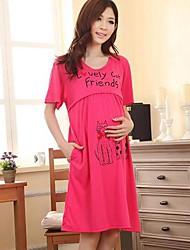 mode et les loisirs allaitement robe à manches courtes de maternité