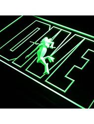 s101 mergulho oceano sinal esporte logotipo da atração luz neon