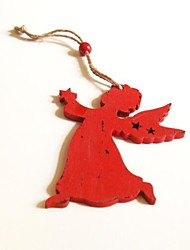 Christmas Hanging Decoratives  Mini Angel Shape 1 PC MDF Materiels for Christmas Decorations