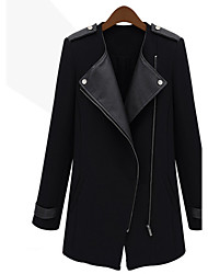 Miyue Women's Fashion  Slim Coat Coat