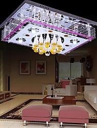 220v sunweit ras moderne montage 6 lumières en fonction de cristal avec télécommande