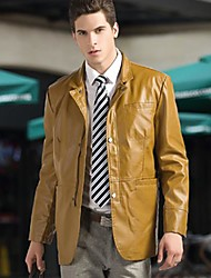 Men PU Outerwear , Without Lining