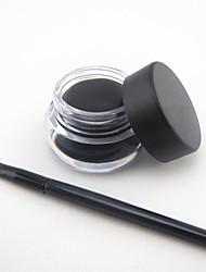 imperméable à l'eau eyeliner noir naturel avec un jeu de brosses