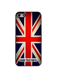 caixa personalizada caso design de metal union jack para iPhone 5 / 5s