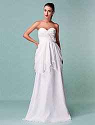 Lanting Bride® Sheath / Column Petite / Plus Sizes Wedding Dress - Classic & Timeless / Chic & Modern / Reception Floor-length Sweetheart