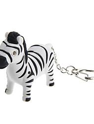 mooie zebra vorm sleutelhanger speelgoed