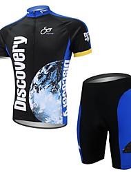 XAOYO Camisa com Shorts para Ciclismo Homens Manga Curta Moto Secagem Rápida Bolso Traseiro Conjuntos de Roupas/TernosPoliéster 100%