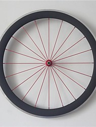 AURORA RACING 700c Road 50C-25mm Carbon Clincher Road Bike Wheels with Alloy Brake Novatec A291SB/S482SB Hubs