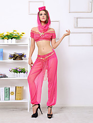 Performance Dancewear Women's India Belly Dance Outfit-Including Top,Bottom,Headpiece