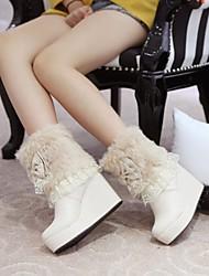 zapatos de las mujeres del dedo del pie redondo Botines de tacón de cuña más colores disponibles