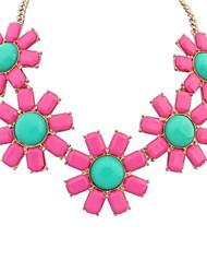 Women's Bohemia Style Sunburst Flowers Assemble Clearance Bib Statement Necklace
