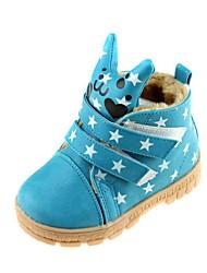 zapatos de la comodidad de nieve botines planos del talón de los niños