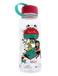 Bros ™ Esporte Transparente portáteis garrafas plásticas Coffe Tea Bebidas Água 750ml
