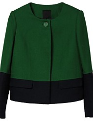 gola redonda de ozl®women juntar casaco de lã juntos
