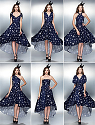 TS Couture® Cocktail Party / Prom Dress - Convertible Dress Plus Size / Petite Sheath / Column Asymmetrical Knit with Draping / Side Draping / Ruching