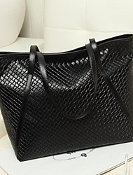 Women's Lady Fashion Quilted Leather Handbag Tote Shopper Bag