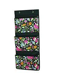 Multifunctional Floral Three-layer Oxford Cloth Storage Shelf