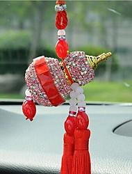 calabaza adornos de joyería de diamantes de imitación para el coche
