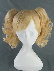 Cosplay Wigs Cosplay Cosplay Golden Short Anime Cosplay Wigs 35 CM Heat Resistant Fiber Female