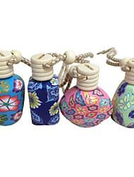 LEBOSH™  4pcs Polymer Clay Perfume Pendant Essential Oil Bottles Car Hanging Decorations (Random Color)
