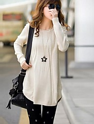 Maternity's Fashion Joker Loose Pure Color Knitting Sweater