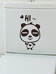 Cartoon Panda Toilet Sticker