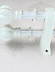 Aluminum Alloy Spray Ivory White Plum Pagoda Dack Word Rome Rod Curtain Double Rod 0490102-02