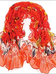 Red  Bali Yarn Scarf Cotton Cape Spring And Autumn Long Design Autumn And Winter Women's Scarf