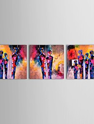 IARTS®Hand Painted Oil Painting People Pop Art Abstract Painting Design with Stretched Frame Set of 3