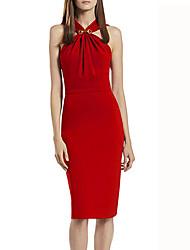 syj atractivo de la correa de las mujeres con el vestido bodycon imperio hombro