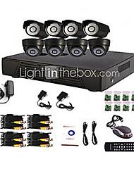 8 kanaals Home en Office DIY CCTV DVR-systeem (P2P Online, 4 D1-opname)