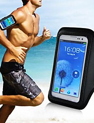 Vertical Universal Sport Jogging Armband Pouch for Samsung Galaxy Phone (Black)