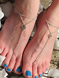 Women's Simple Peace Symbol Triangle Chain Mittens Anklet