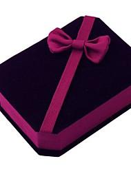 coway 8 * 6.8 * 3.3 de haute qualité boîte à bijoux en velours octogonale