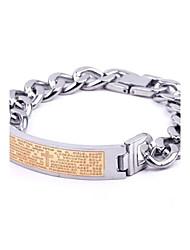 herenmode persoonlijkheid titanium staal gouden Schrift armbanden