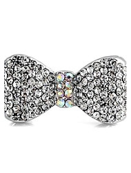Bowknot Pattern Metal With Full Artificial Diamond Adjustable Rings(1Pc)