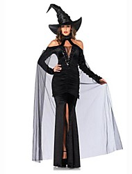Flying Wizard Black Adult Women's Halloween Costume