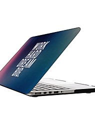 Work Hard and Dream Big Design Full-Body Protective Plastic Case for 13-inch/15-inch MacBook-Pro with Retina Display