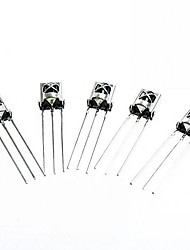 HX1838/PC638 DIY Universal Electronic Component Infrared Receiver - Silver (5 PCS)