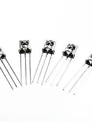 hx1838 / pc638 поделки универсальный электронный компонент инфракрасный приемник - серебро (5 шт)