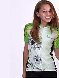 Quirell Wmen's Wicking Polyester Short Sleeve Cycling Suits-Green