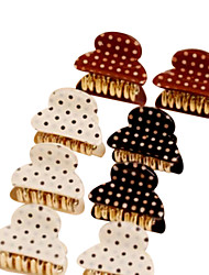 Cute Polka Dots Acrylic Small Hair Claws