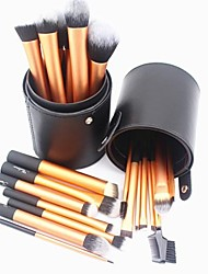22pcs Gold Professional Makeup Brush Set with Cylinder Case