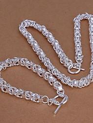 conjunto de jóias de lureme®men banhado a prata 925 pulseira colar nova cadeia de liderança