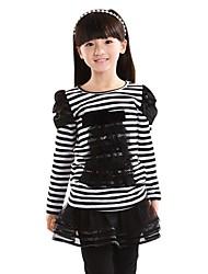 fashion girls figlia doll® rotondo T-shirt a manica lunga del merletto del collare della banda