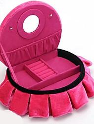 Lureme®Fashion Rose Flannel Jewelry Box(Rose)(1 Pc)